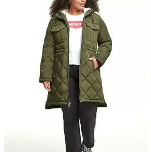 -NWT- Levi's Plus Size Quilted Hooded Parka Jacket